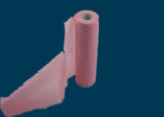 China 50% VIS 50% Industrial Wipes PET Spunlace Non Woven Fabric Roll Rayon Nonwoven supplier
