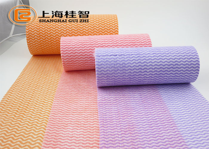 Cross Lapping Spunlace Nonwoven Fabric Polyester And