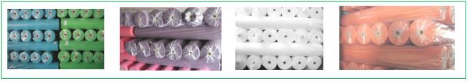Colorful raw material 10-320gsm spun-bond cross nonwoven fabric