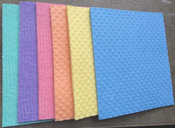 Soft Durable 100% Wood Pulp Cellulose Sponge Cloth Non Woven Wipes Super Absorbent Quick Dry