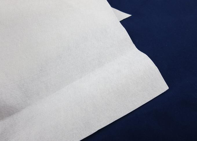 Industrial Spunlace Nonwoven Fabric Plain Cross Lapping Plain Nonwoven Fabric
